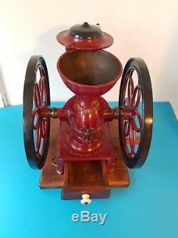 Antique Industrial Double Balance Wheel Enterprise # 3 Coffee Grinder