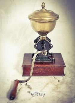 Antique J. B. LAUZANNE Coffee Grinder French Mill Moulin Molinillo Cafe c1890