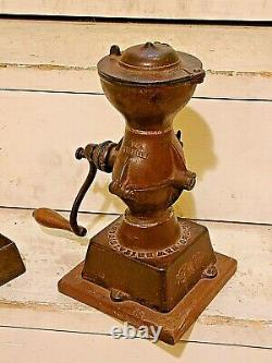 Antique Landers Frary & Clark Cast Coffee Mill Grinder Model #11