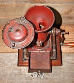 Antique Landers Frary & Clark Cast Iron Crown Coffee Mill Grinder #11 L. F. & C