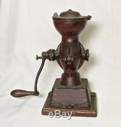 Antique Landers Frary & Clark Crown Coffee Mill Cast Grinder Model #11 22917