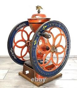 Antique Large 24 ENTERPRISE PHILADELPHIA Coffee Grinder No. 7 Mill