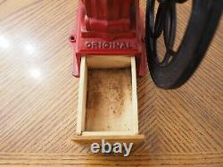 Antique MJF Original Patentado Cast Iron Single Wheel Coffee Grinder Mill Spain