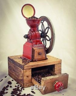 Antique MJF PATENTADO Coffee Grinder Mill Moulin Molinillo cafe Kaffeemuehle