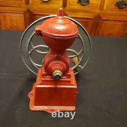 Antique MJF Patentado Coffee Grinder Mill Original Cast Iron Single Wheel Spain