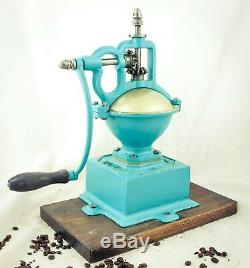 Antique MUTZIG FRAMONT Cast-Iron Coffee Grinder Mill Koffiemolen Moulin Cafe