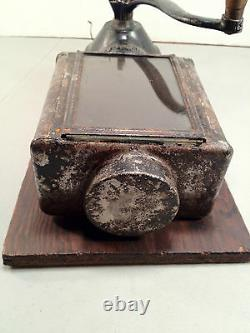 Antique N. C. R. A. Coffee Grinder with Mounting Board