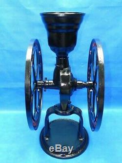 Antique National Coffee Mill Elgin Two Wheel Cast Iron Grinder 25 High
