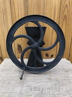 Antique No. 1762 Coffee Grinder Mill Grain Grist Cast Iron Black Rustic Vintage