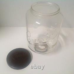 Antique No 3 Crystal Arcade Wall Coffee Grinder 2 Replacement Catch Cups Plaque