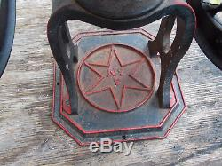 Antique No. 7 Cast Iron STAR MILL COFFEE GRINDER Pat. 1884 1885 Philadelphia