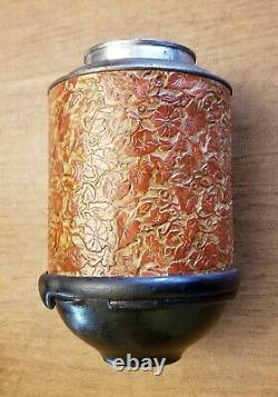 Antique Original ARCADE ROYAL Embossed Tin & Cast Iron Coffee Grinder Pat. 1894