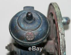 Antique Original Spanish Green Cast Iron Coffee Grinder Mill Flywheel MJF