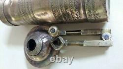 Antique Ottoman Heavy Brass XXL Coffee/ Pepper Grinder Mill 35.5 cm Working
