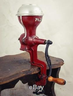 Antique PEDE Coffee Grinder Peter Dienes Clamp on Mill Kaffeemuehle Moulin cafe