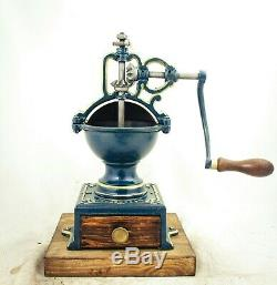 Antique PEUGEOT & CIE c1872Cast-iron Coffee Grinder Mill Koffiemolen Moulin Cafe