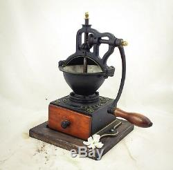 Antique PEUGEOT FRERES A1 Cast-Iron Coffee Grinder Mill Koffiemolen Moulin Cafe