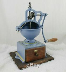 Antique PEUGEOT FRERES A2 Cast-Iron Coffee Grinder Mill Koffiemolen Moulin Cafe
