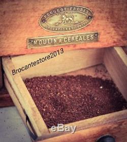 Antique PEUGEOT FRERES VALENTIGNEY Coffee Grinder Mill Moulin Molinillo café