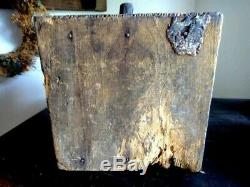 Antique PRIM EARLY WOOD CAST IRON COFFEE GRINDER MILL 1080 challenge sun manuf