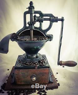 Antique PeDe Coffee Grinder Mill PETER DIENES Moulin Molinillo cafe Macina caffè