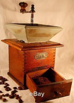 Antique PeDe Peter Dienes Coffee Grinder Mill Moulin Cafe Molinillo Macinacaffe