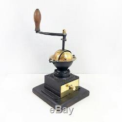 Antique Peugeot Brass Cast Iron Coffee Grinder Vintage Coffee Mill Kitchenalia