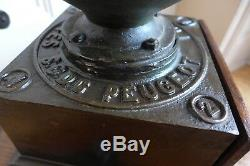 Antique Peugeot Freres Brevetes NO. 2 Cast Iron Coffee Grinder With Drawer Shop