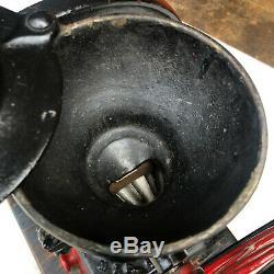 Antique Primitive Enterprise #2 Cast Iron Double Wheel Table Top Coffee Grinder