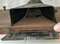 Antique Primitive Small Wilson's Improved Pattern Cabinet Wall Coffee Grinder