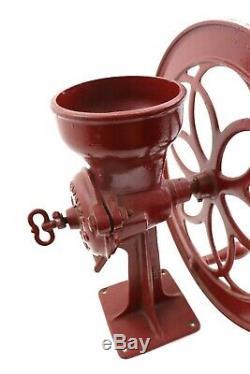 Antique Red Cast Iron ENTERPRISE # 60 Philadelphia Grist Mill Coffee Grinder