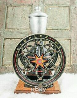 Antique SIMPLEX Coffee Grinder No. 4 Mill Moulin cafe Molinillo Spanish