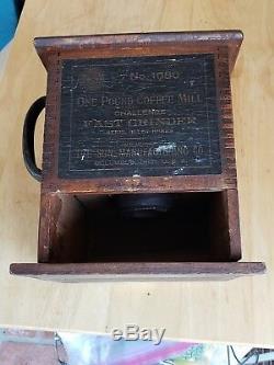 Antique SUN #1080 Challenge Coffee Fast Grinder Mill Hand Crank Ornate Iron