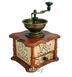 Antique Saxony Coffee Grinder CELLULOID mill Moulin cafe Molinillo kaffeemuehle