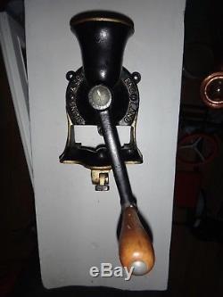Antique Spong & Co Ltd #1 Cast Iron Burr Coffee Grinder Restored Clean England