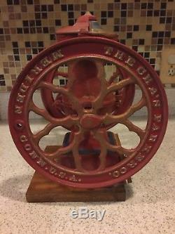 Antique The Cha's Parker Co. Meriden Conn. U. S. A. Coffee Grinder Cast Iron Heavy