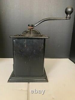 Antique Tiger No 100 Metal Coffee Grinder Bronson Walton Co Cleveland Ohio