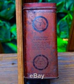 Antique Tin Coffee Mill Cast Iron Grinder Vintage Wall Mount With Advertising 1872