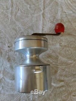 Antique Vintage Coffee Grinder Mill aluminum metal HOP brand made in France