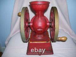 Antique Vintage Countertop John Wright Coffee Mill Grinder Cast Iron Project