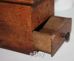 Antique Vintage French Iron and Wood Large coffee grinder # PL-4369 #