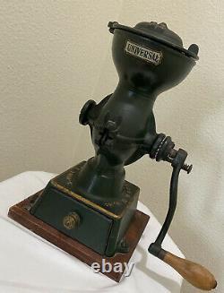 Antique Vintage Landers Frary & Clark Coffee Grinder Mill Cast Iron Crank USA
