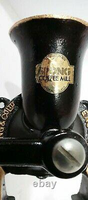 Antique Vintage Spong & Co Ltd Coffee Mill Grinder No. 2 Made In England