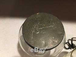 Antique Wall Mount Arcade Crystal No. 3 Coffee Grinder with Original Catch Glass