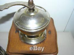 Antique Wooden Coffee Grinder MILL And Vintage Miniature Bird Cage