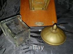Antique brass. Wall mounted coffee grinder ca. 1930s