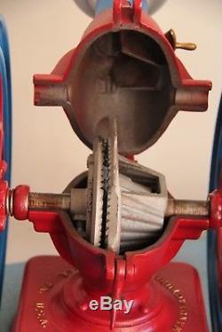 Antique coffee grinder double wheel Enterprise No 6