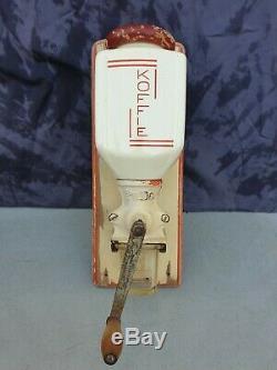 Antique dutch Pede wall mounted hand crank Coffee Grinder art deco 1920