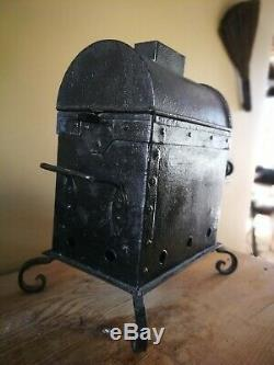 Antique french Coffee roaster grinder primitive