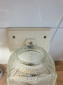 Antique wall mounted hand crank Coffee Grinder with glass canister ca. 1930-1950